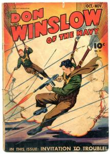 Don Winslow Of The Navy #29 1945-Parachute cover- Golden Age G/VG