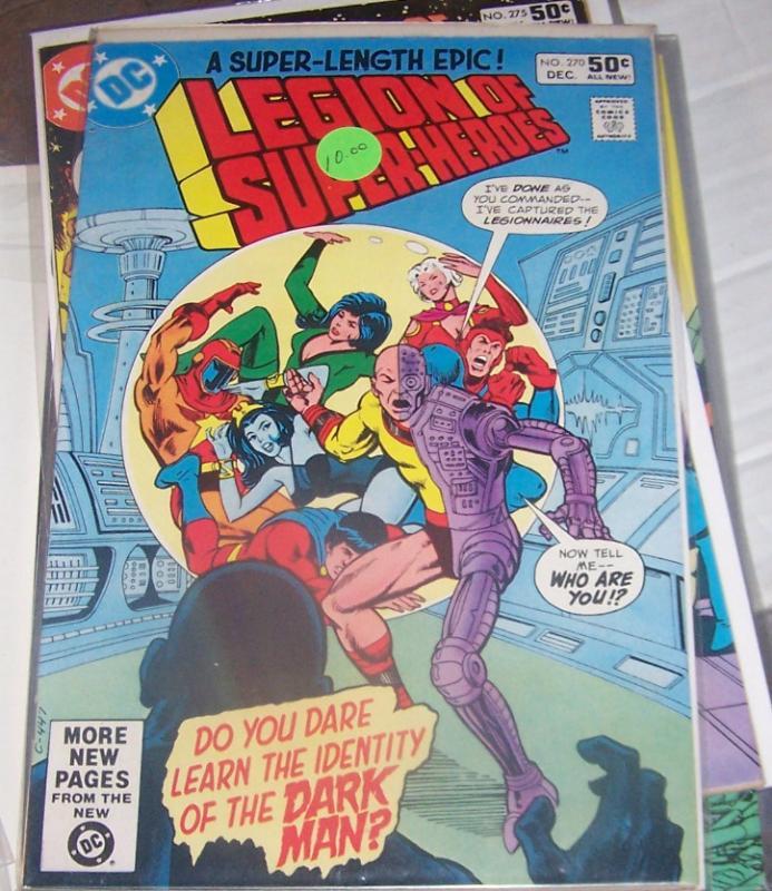 LEGION OF SUPER HEROES # 270 DC dec 1980  the dark man