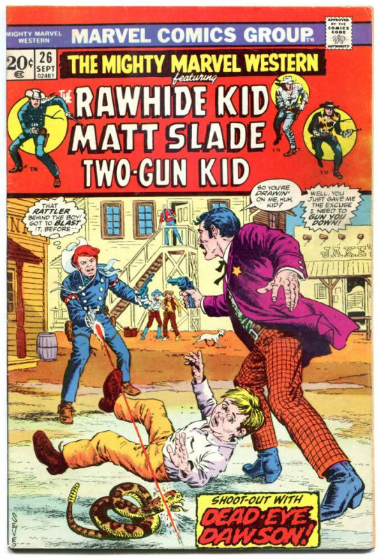 MIGHTY MARVEL WESTERN #26, 28, 37, FN, Rawhide Kid, Gunfights, more in store