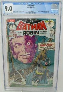 Batman # 234 ~ 1971 DC ~ CGC 9.0 VF/NM ~ 1st Silver Age Two-Face