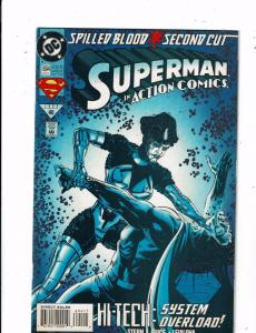 8 Superman in Action Comics DC Comic Books #694 695(2) 696 697 698 699 700 TW44
