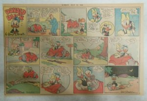 Donald Duck Sunday Page by Walt Disney from 7/13/1941 Half Page Size