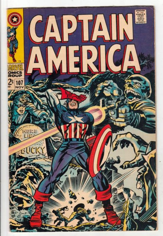 Captain America #107 (Nov-68) FN/VF- Mid-High-Grade Captain America