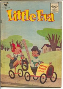 Little Eva #20 1955-St John-painted cover by Bob Bean-tow truc-cover-G/VG