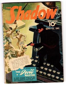 SHADOW 1941 SEPT 15-Pulp Magazine-Graves Gladney
