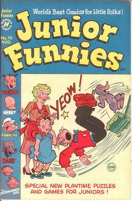 JUNIOR FUNNIES (1951-1952) 10 VF August 1951 COMICS BOOK