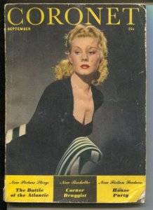 Coronet 9/1941-Puk Paaris cover-Norman Rockwell-cheesecake-cartoons-G