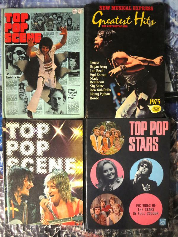 TOP POP SCENE - 4 British Annuals Purnell UK Rock HB Music Info Good Cond