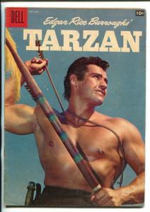 TARZAN #108-1958-DELL-GORDON SCOTT COVER- BURROUGHS- MARSH- MANNING-fn