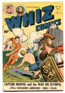 Whiz Comics #87-Captain Marvel- Golden Arrow- War of the Gods VG