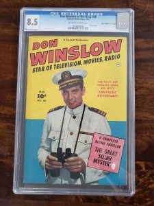 Don Winslow of the Navy 66 CGC 8.5 Crippen Pedigree D copy(Old Pedigree label)