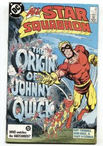 ALL-STAR SQUADRON #65 1986 comic book Origin of JOHNNY QUICK