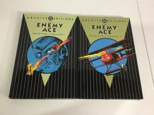 Archive Editions Enemy Ace Volume 1 2 TPB Lot Nm Near Mint DC Comics hc