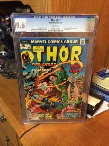The Mighty Thor 223 Cgc 9.6 White Pages