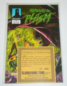 Warriors of Plasm #1 VF/NM signed by mike witherby with coa (#0961/3000)