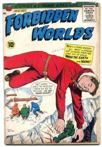 Forbidden Worlds #90 1960- Atomic Explosion panel- ACG Silver Age G