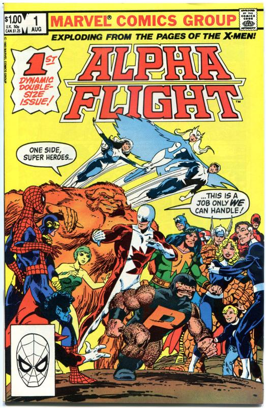 ALPHA FLIGHT #1 2 3 4 5 6 7 8 9 10-52 + Ann #1-2, NM-, 1983, 54 issues / set