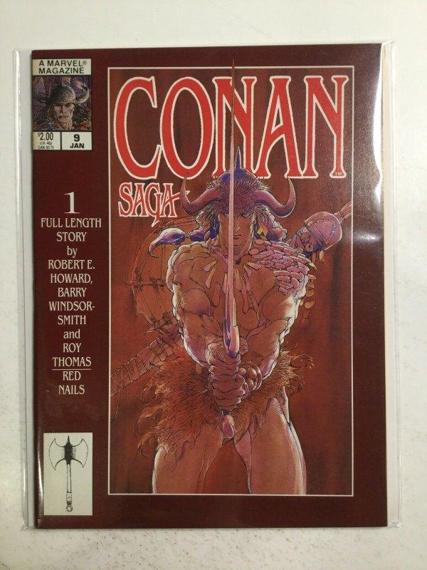 Conan Saga 9 January Magazine Very Fine Vf 8.0 Marvel Magazine