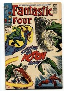 FANTASTIC FOUR #71 - 1968-SILVER AGE-JACK KIRBY ART-MARVEL VF