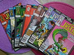 Justice Mark Jewelers 7 issue Lot #3, 5-8,12-13 MJ (1987) New Universe Marvel