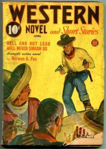 Western Novel And Short Stories Pulp April 1942- Norman Fox G/VG