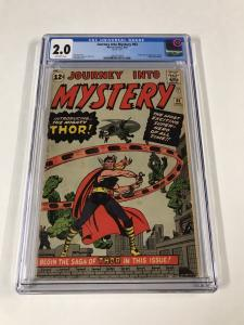 Journey Into Mystery 83 Cgc 2.0 Off White Pages 1st First Appearance Of Thor