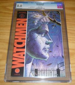 Watchmen #2 CGC 8.0 alan moore - dave gibbons - dc comics 1986