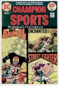 CHAMPION SPORTS #1 2 3, FN+ to VF, Oakland A's, 1973, Street fighter