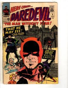 Daredevil # 9 FN Marvel Comic Book Silver Age Foggy Karen Defenders FH2