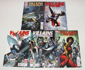 Villains For Hire #0.1 & 1-4 FN/VF complete series  abnett/lanning  misty knight