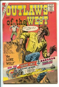 Outlaws of the West #29 1960- Lone Wolf- Charlton Western- G/VG