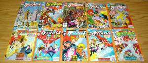 Team Titans #1-24 VF/NM complete series + annual #1-2 + (4) variants - dc set