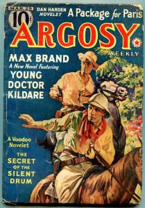 Argosy Pulp March 25 1939- Max Brand- Dr Kildare- Voodoo FAIR