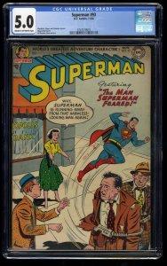 Superman #93 CGC VG/FN 5.0 Cream To Off White Jimmy Olsen!