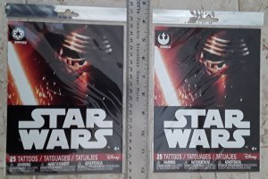 Star Wars Disney Savvi 2 Unopened Packs of 25 Tattoos Rebels & Empire