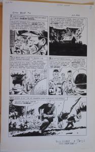 SAM GLANZMAN original art, TALES of the GREEN BERET #4 pg 26, 14x 22, War, 1967