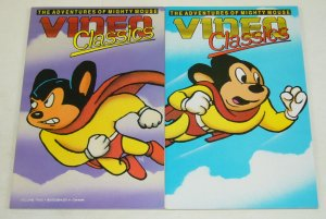 Video Classics #1-2 VF/NM complete series - adventures of mighty mouse set lot