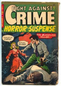 Fight Against Crime #13 1953- Bloodless Killer- Golden Age Horror G