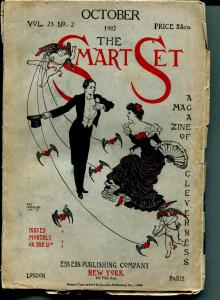 Smart Set 10/1907-pulp format magazine-almost 100 years old-VG
