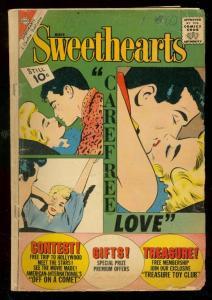 SWEETHEARTS #64 1962-CHARLTON ROMANCE-10 CENT COVER PRI G