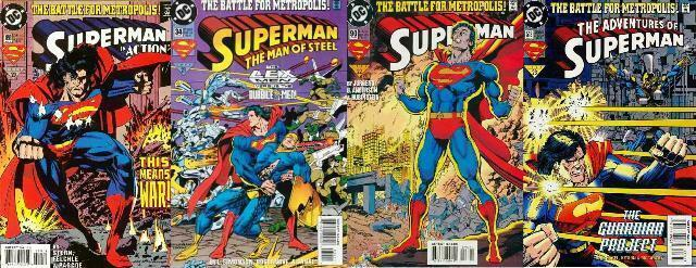 SUPERMAN BATTLE FOR METROPOLIS parts 1-4 Complete XOVER