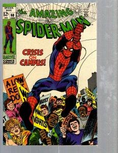 Amazing Spider-Man # 68 VF- Marvel Comic Book MJ Vulture Goblin Scorpion TJ1