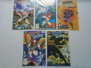 Hawk and Dove set #1-5 4.0/VG (1988 2nd Series)