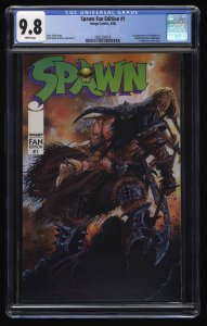 Spawn Fan Edition #1 CGC NM/M 9.8 White Pages