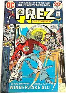 PREZ#2 VF 1973 DC BRONZE AGE COMICS