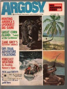 Argosy 10/1972-Zane Grey's Outdoor America-junkie attacks cop-pulp fiction-FN