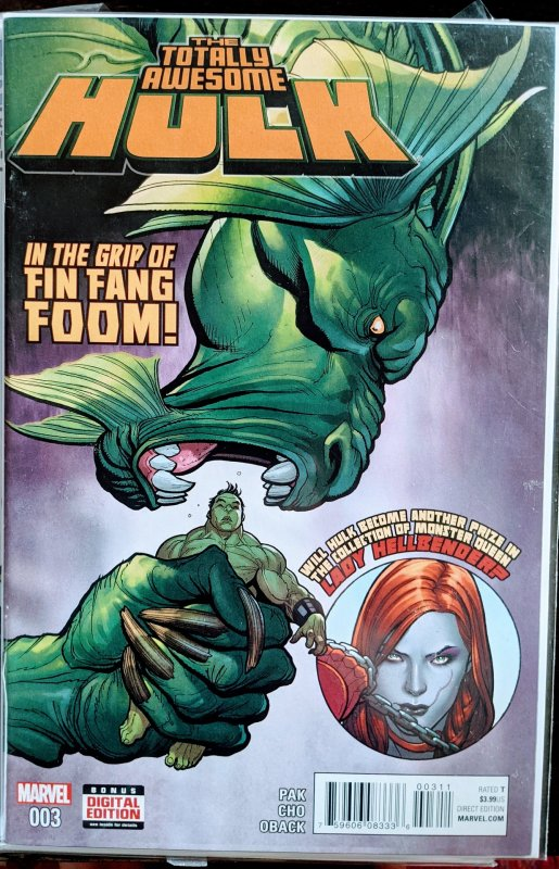 The Totally Awesome Hulk #3 (2016) FIN FANG FOOM - TOTALLY AWESOME HULK APP!