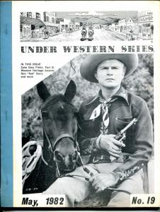 Under Western Skies #19 5/82-Don Red Barry-Zane Grey films-B-Westerns-FN