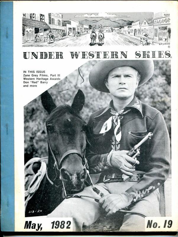 Under Western Skies #19 5/82-Don Red Barry-Zane Grey films-B-Westerns-FN