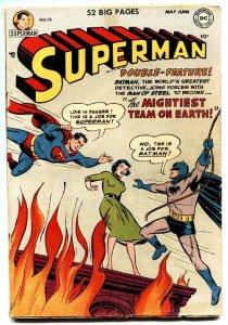 Superman #76-Batman and Superman Team-up-1952-golden-age comic book